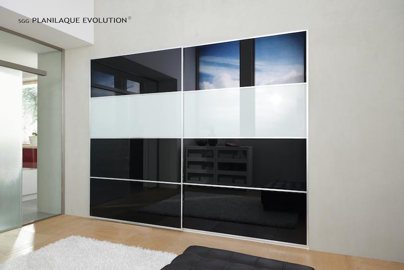 schrank schiebetueren aus glas glastechnik max pauliel gmbh. Black Bedroom Furniture Sets. Home Design Ideas