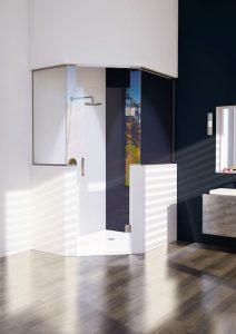 Fünfeck-Duschen