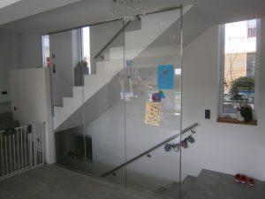 Raumhohe Treppenverglasungen