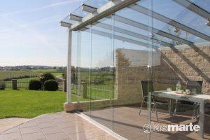 Glas-Schiebetüren, Glas-Falttüren
