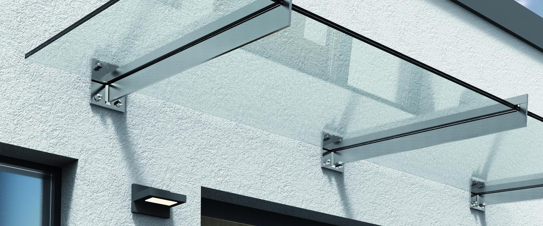 Glasvordächer, Glasvordach, Glas ums Haus