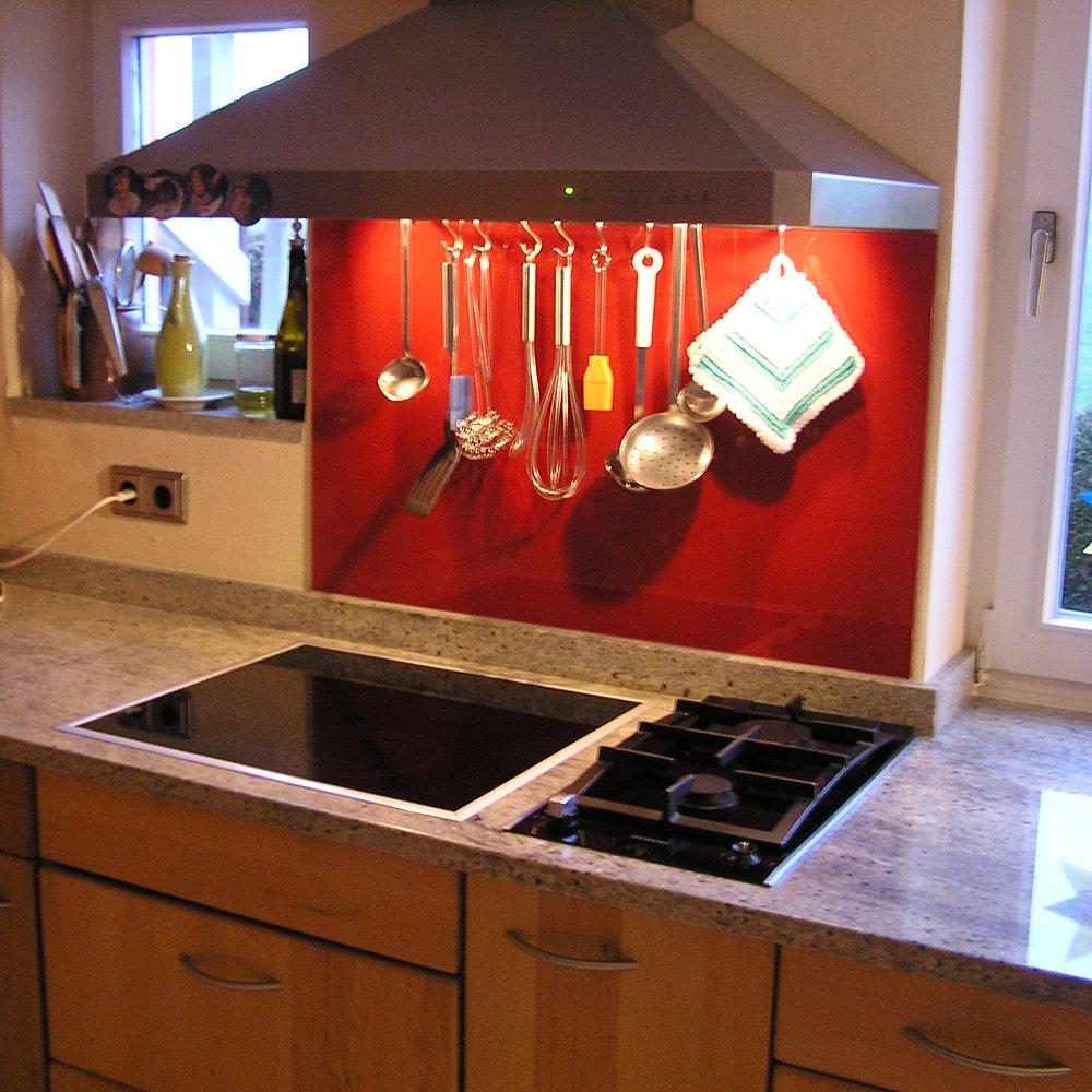 Küchenrückwände aus Glas, Lackierte Gläser