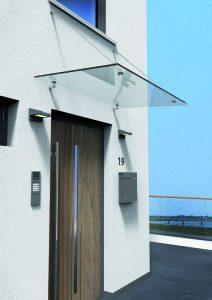 Glasvordach, punktgehaltene Glasvordächer