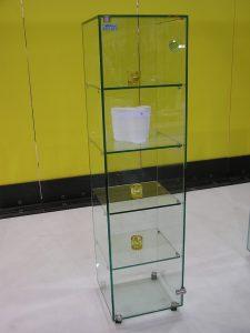 Glasmöbel, Glas-Vitrine