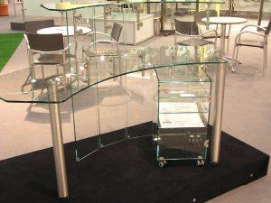 Glasmöbel, Glas-Schreibtische