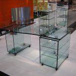 Glasmöbel, Glas-Schreibtisch