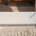 Hochwasser-Türsystem, Wabenplatten