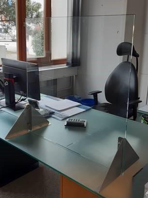 Corona-Schutzverglasung Schreibtisch